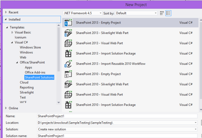 Sharepoint project